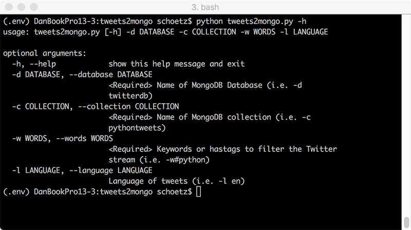 Phooky COM - Twitter Mining with Tweepy and mongoDB