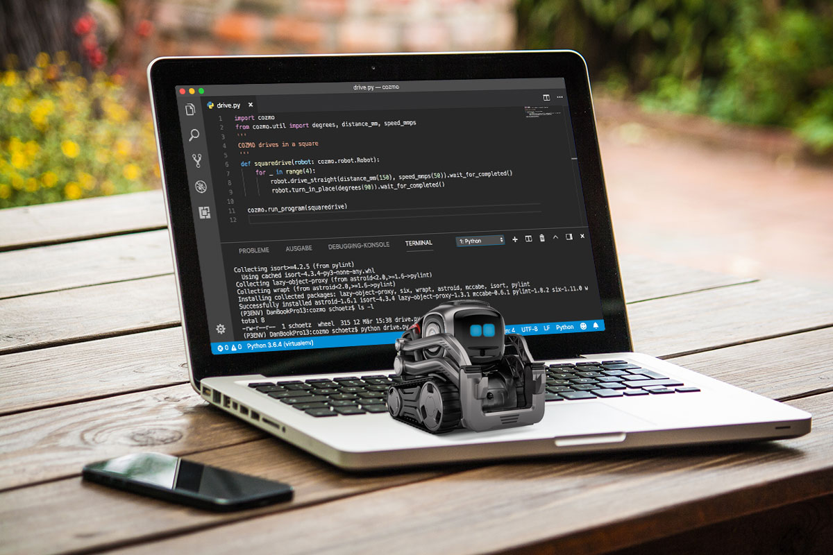 Phooky COM - Learn to code Python with COZMO